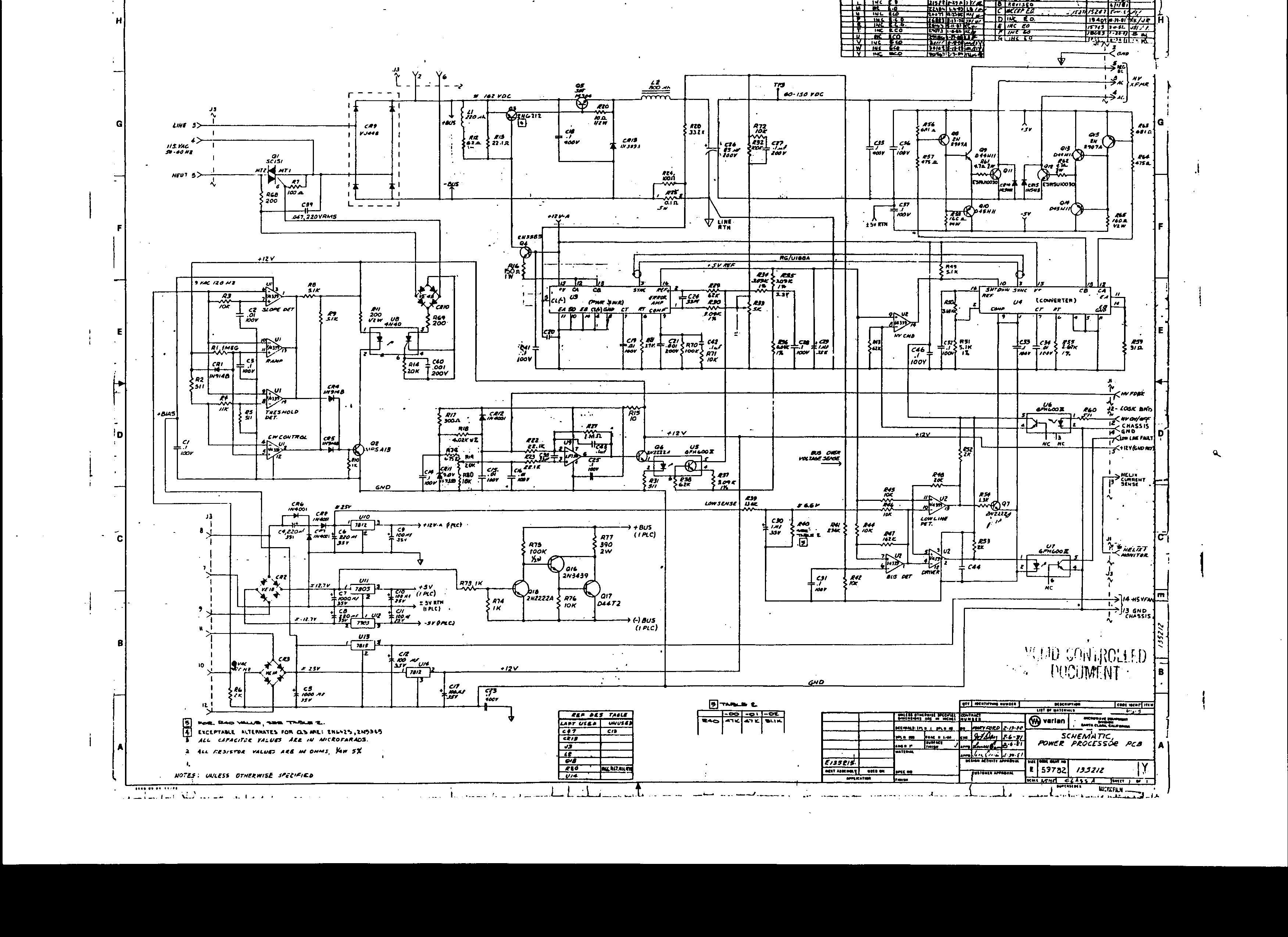 High Voltage Power Supply Schematic
